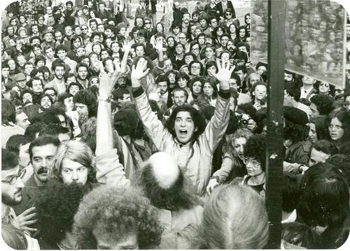 Una manifestazione studentesca