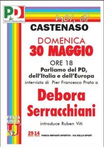 Debora Serracchiani alla Festa dell'Unità di Castenaso