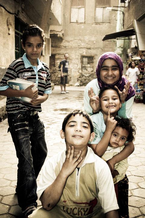 Bambini al Cairo